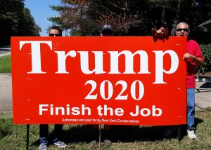We support Trump 2020